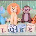 "2.25"" Animal Cake Topper - Han.."